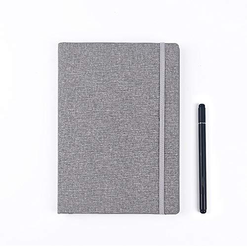 Duradera Libreta Regrabable,Almacenamiento Inteligente en la Nube, Cuaderno Reutilizable con Bolígrafo Borrable, Cuaderno de Tapa Dura, 17 * 23 Cm Oficina (Color : Gray)