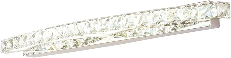 WWLONG Kristallspiegelscheinwerfer LED, Badezimmerwandlampe Badezimmerspiegellampe Spiegelscheinwerfer Badezimmerverfassungslampenspiegel-Frontbeleuchtung-11W-40CM