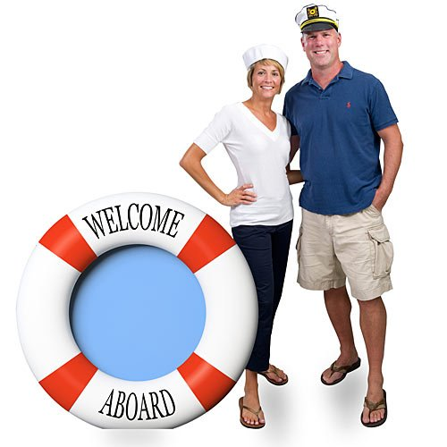 3 ft. 9 in. Life Preserver Nautical Sailor Standee Standup Photo Booth Prop Background Backdrop Party Decoration Decor Scene Setter Cardboard Cutout