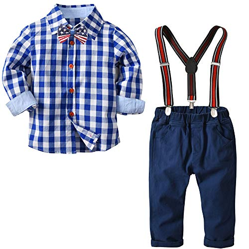 Autumn Kids Boys Clothes Sets Toddler Boy Gentleman Suits Bow Ties Shirts Suspenders Jeans Pants Christmas Outfits Suits