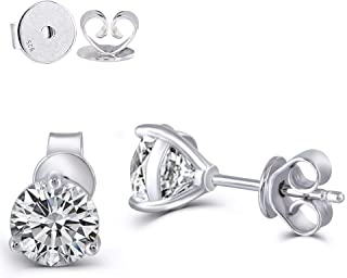DovEggs Platinum Plated Silver platinum-plated-silver round-brilliant-shape H-I moissanite