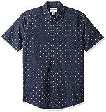 Amazon Essentials - Camisa de manga corta y corte entallado con estampado para hombre, Anchor, US XS (EU XS)