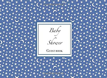Baby Shower. Guest Book: Unique vintage retro style pattern theme cover. Compact portable size.