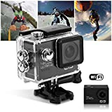 ELE CAM Explorer Elite Action Cam 4K Sportkamera WiFi wasserdichte 12MP 1080P Full HD HDMI Cancorder...