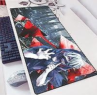 東京-喰種Tokyo Ghoulマウスパッド マウス用パッド キーボードパッド デスクマット 大型 薄型 ラバー素材採用 水洗い 多機能 滑り止め 耐久性が良い -A_800*400*3