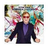 Elton John Album-Cover Wonderful Crazy Night Leinwand