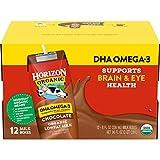 Horizon Organic Shelf-Stable 1% Lowfat Milk Boxes with DHA Omega-3, Chocolate, 8 oz., 12 Pack