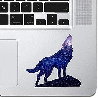 "Cosmic Howling Wolf Laptop Sticker Keyboard, Keypad Vinyl Macbook Decal Sticker - Skin Track Pad MacBook Pro Air 13"" 15"" 1..."