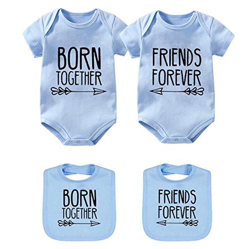 culbutomind Body pour bébé avec inscription « Best Friends Forever » - Bleu - Medium