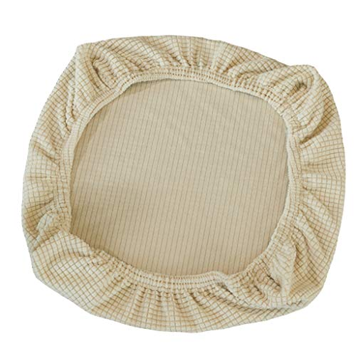 FLAMEER Fundas de Silla Cubierta de Asiento Protectora Elásticas Extraíble Lavable Cubre Silla para Comedor - Beige