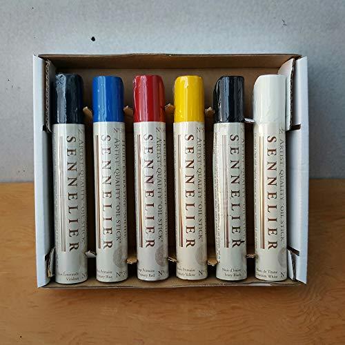 Sennelier Oil Bar Set of 6 x 38ml Sticks