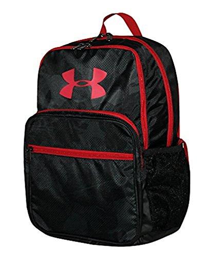 Under Armour HOF Youth Boys Athletic Multi purpose School Backpack (Black/red)