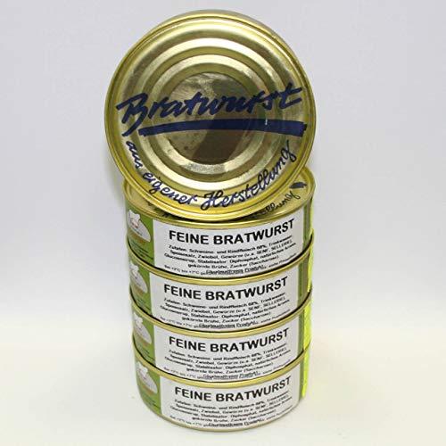 Feine Bratwurst 5x200g Dosenwurst, Vorteilsset, Vorratsset, Landmetzgerei Sandritter