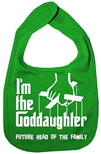 IIE Bavoir unisexe pour bébé avec inscription « I'm The Goddaughter Future Head of Family » Vert