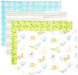 Luvable Friends Unisex Baby Cotton Flannel Burp Cloths, Abc, One Size