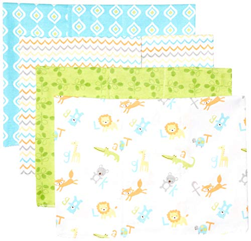 Luvable Friends Unisex Baby Cotton Flannel Burp Cloths