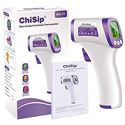 ChiSip Infrared Thermometer No-Touch Forehead Thermometer for Adults Kids Baby, Digital Infrared Thermometer Accurate Reading and Memory Function