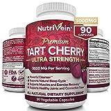 Nutrivein Tart Cherry Capsules 3000mg - 90 Vegan Pills - Antioxidants, Flavonoids - Supports Uric...