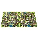 Alfombra de juego plegable, alfombra de gatear, alfombra de juego de franela para niños, alfombra de juego no tóxica