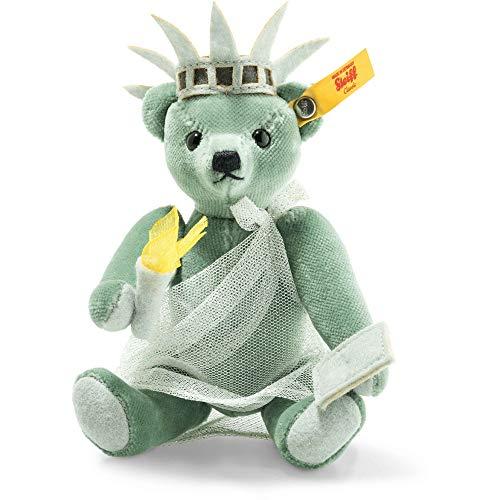 Steiff 026874 Great Escapes New York Teddybär in Geschenkbox 15 cm grün 5-Fach gegliedert