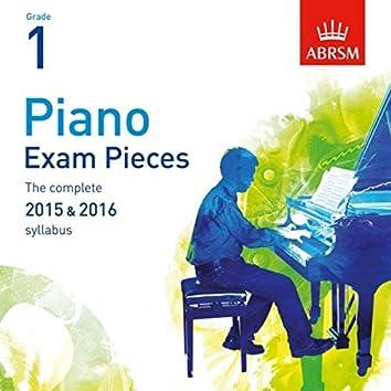 Piano Exam Pieces 2015 & 2016, ABRSM Grade 1