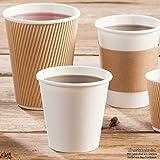 BIOZOYG Bio Einwegbecher für Heißgetränke I Einmalgeschirr Partyzubehör Pappbecher biologisch abbaubar, kompostierbar I Recycling Kaffeebecher weiß mit Comicdruck 50 Stück 200ml 8 oz - 3