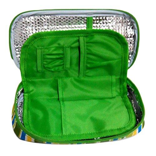 Brightcactus Tragbarer medizinischer Kühler-Insulin-Kühltasche-neuer Isolierreise-Kasten Spezifischer umweltfreundlicher Kühlbox-Grün-Beutel