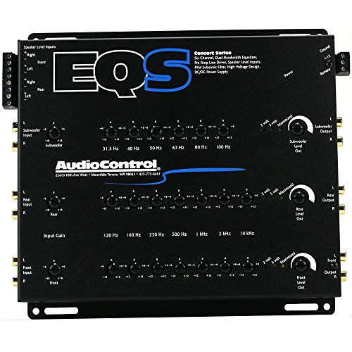 AudioControl EQS Black Six Channel Trunk Mount Equalizer