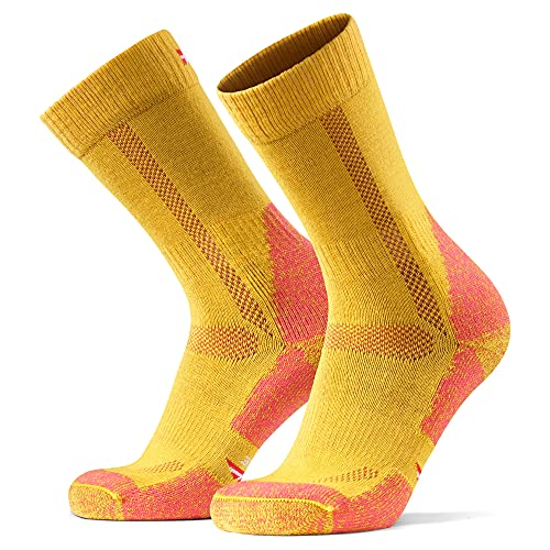 Hiking & Walking Socks 1 pack in Merino Wool, for Men Women Children, Trekking (Yellow, EU 39-42    UK 6-8)