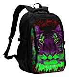 Laptop Backpacks Tactical Trippy Wallpapers Tumblr Office & School Supplies with USB Data Cable and Music Jack Laptop Bags Notebook Computer 18.1X13.3 inch