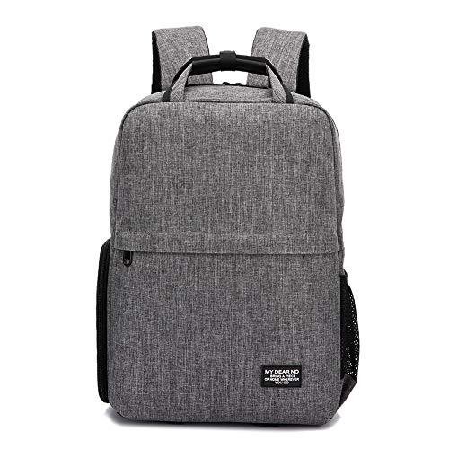 Earthily Cámara impermeable digital SLR mochila impermeable con compartimento para computadora portátil de 15.6 pulgadas con gruesas particiones personalizadas. Durabilidad: compatible con safety