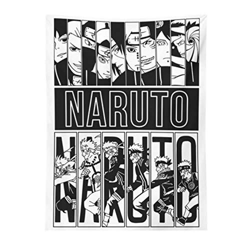 Tapiz de Naruto, decoración japonesa para colgar en la pared, manta súper suave, toalla hippie, decoración del hogar, colchoneta para colgar en la pared, tapiz para dormir