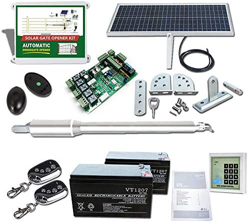 DC House EM3 Solar Gate Opener Kit with Keypad Heavy Duty Automatic Gate Operator for Single product image