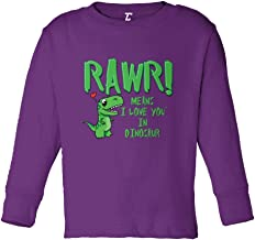 Rawr! Means I Love You in Dinosaur Infant/Toddler Cotton Jersey T-Shirt