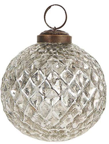 IB Laursen Weihnachtskugel Harlekin groß Silber