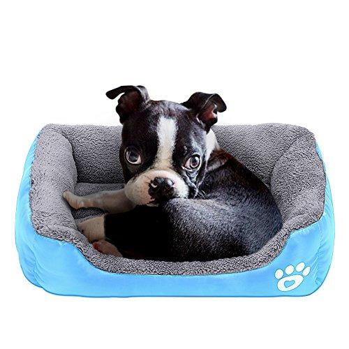 Powerking Hundebett, wasserdichtes Haustier Mat Pad und Schlafkissen für Kitty Katze und kleine Hündchen, weich und waschbar (Blau)