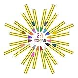 Rmeet Pinturas Cara para Niños,24 Pack Seguro Crayones Pintura Facial de Colores Face Pastelli Palos para Niños Fiesta Maquillaje Halloween Juego Carnevale Pasqua Natale