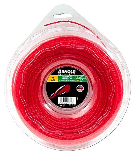 ARNOLD, 2 mm x 97,5 m, Kleeblattform, 1082-U5-2098 Trimmerfaden AF 3.10, 2.0mm x 97.5m, rot, rund, gedreht