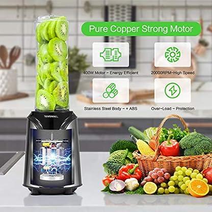Mixer-Smoothie-Maker-Tenswall-400Watt-Mini-Standmixer-mit-600ml600ml-Tritan-Kunststoff-Flaschen200ML-Schleifbecher-25000-UMin-Silber