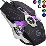 Q7 Wired Optical Gaming Mechanical LED Glowing Colorful RGB Shine Lighting 7 Mode Colors Computer Laptop Racing Ergonomic Metal Base Honeycomb Shape USB Gamer Mouse