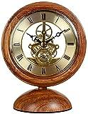 Reloj De Escritorio Creativo Clásico, Reloj De Mesa con Soporte De Madera Reloj De Escritorio Silencioso Vintage De Estilo Europeo Decorativo para El Hogar Sin Tictac