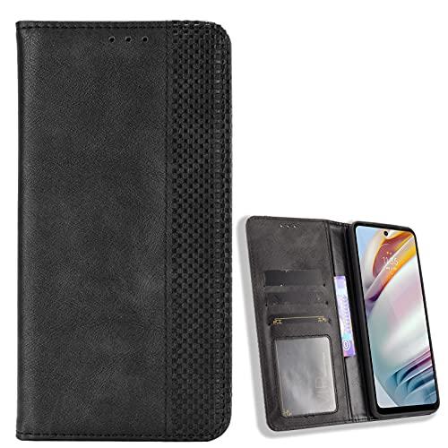 BAILI Funda para Moto G Stylus 5G, Soporte Plegable, Ranura para Tarjeta, Funda Tapa Libro Flip Phone Cover Case para Moto G Stylus 5G, Negro