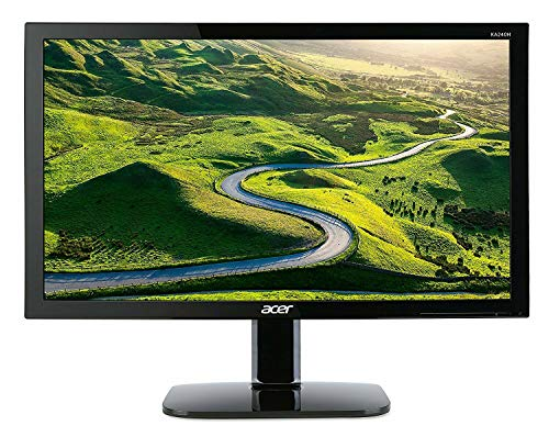 Acer KA240H 24-inch Full HD LED Widescreen Monitor 16:9 Ratio, 5ms Response Time HDMI VGA DVI - Black