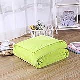 Ririhong Franela,Manta de Cama de 1 Pieza, Mantas de Lana de Coral para Manta de Cama, Textil para el hogar Lavable a máquina -70cmx100cm_Light_Green