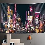 PPOU Tokyo Nightlife Tapisserie Wandbehang im...