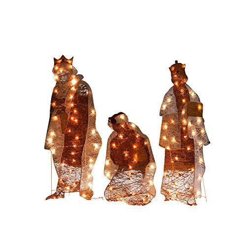BrylaneHome Crystal Splendor Outdoor Nativity Scene, Wise Men