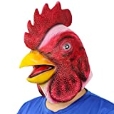 Chicken Head Mask Cock Mask for Halloween Costume Party Carnival Prop