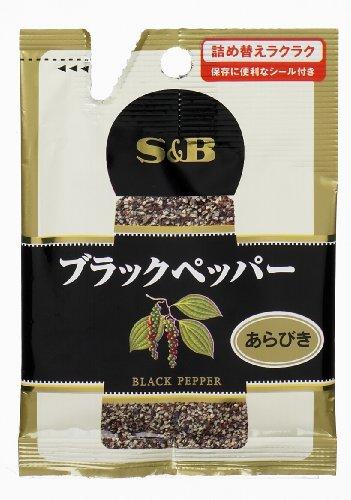 S&B『袋入りブラックペッパー あらびき』