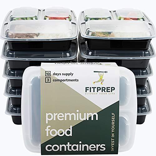 Original de FITPREP® Pack de 10 Contenedor de alimentos con