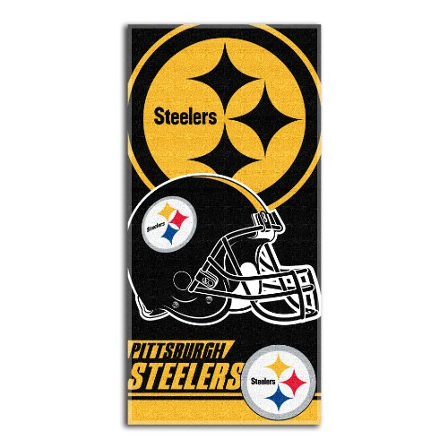 NFL Pittsburgh Steelers Double Covered Strandtuch, 76,2 x 152,4 cm